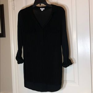 Splendid black tunic top small